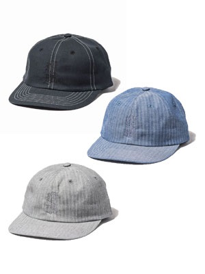 坩堝(ルツボ)/ 坩堝 YARN DYED CHAMBRAY 6PANEL CAP