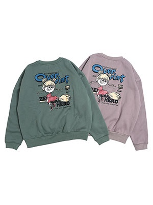 OVER PRINT(オーバープリント)/ OVER COMIC CREWNECK PULLOVER